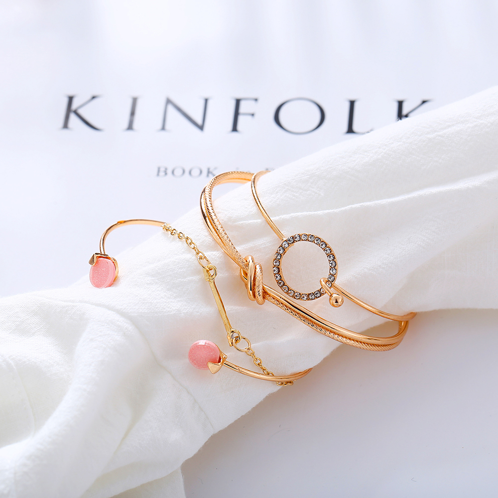 OLOEY Hot Women Brecelets Simple Knot Alloy Open Bracelet Femme Arrow Crystals Bangles Boho Hand Chain Jewelry Accessories Gifts 17