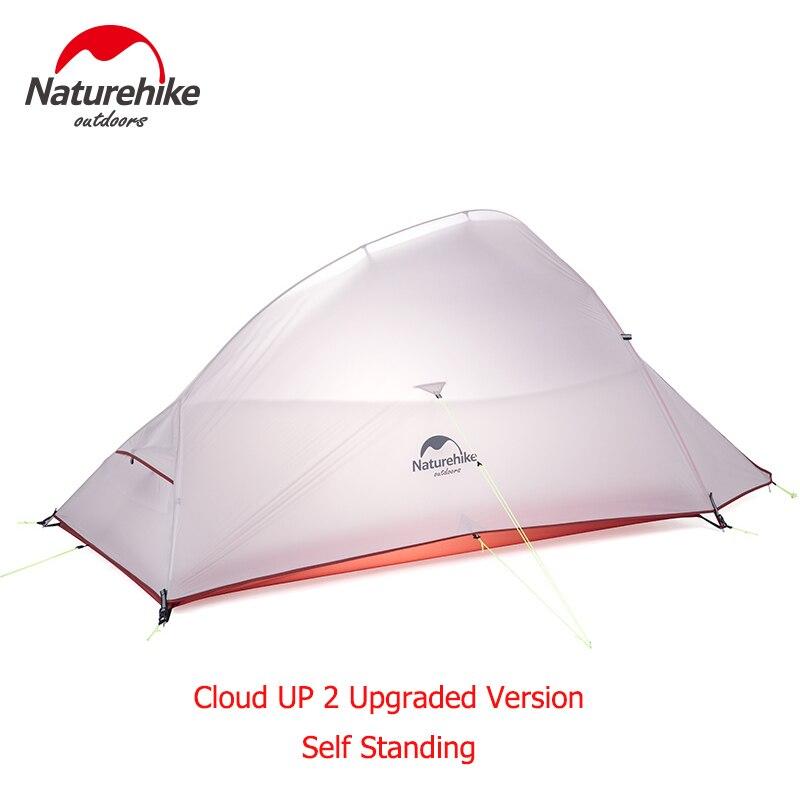 Naturehike Verbesserte Wolke Bis 2 Ultraleicht Zelt 20D Stoff Camping Zelte Für 2 Person Mit kostenloser Matte NH17T001-T