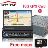 1din Car Stereo Bluetooth 12V Retractable Autoradio Universal 7 inch Touch Screen FM MP5 USB/TF Radio In-Dash Remote Control 16G