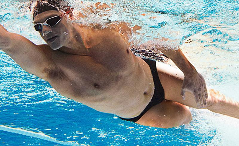 Topdudes.com - Sexy Quick Dry Sharkskin Training Swim Briefs for Men