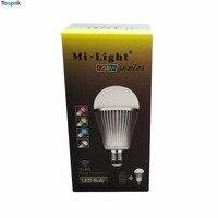 10 adet Mi. light 2.4G E27 9 W RGBW RGB + Soğuk Beyaz Veya Sıcak beyaz LED Ampul Işık Lambası Wifi Tam Renkli Dim 86-265 V toptan