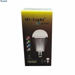 10pcs Mi.light 2.4G E27 9W RGBW RGB+ Warm White LED Bulb Light Lamp FUT016 Wifi Full Color Dimmable 86-265V wholesale