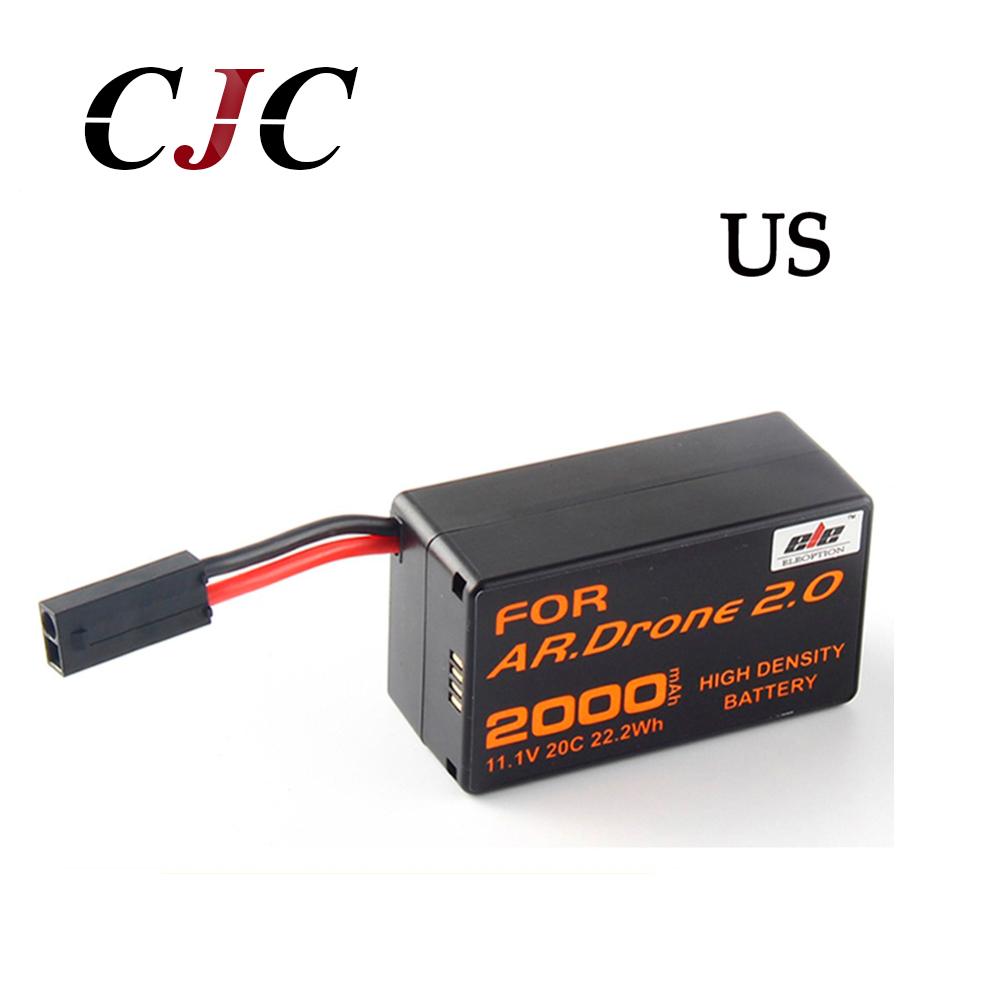 Ship From USA 11.1V 2000mAh Powerful Li-Polymer Battery For Aircraft Parrot AR.Drone 2.0 For RC Quadcopter Helicopter wltoys v272 06 3 7v 100mah li polymer battery for v272 h111 helicopter silver