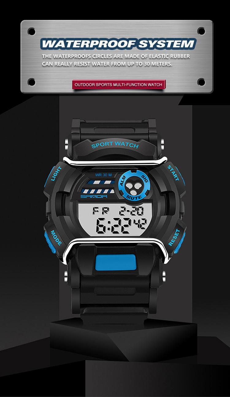 sanda luxury brand led digital watches fashion men\'s sports wristwatches drop shipping (27)