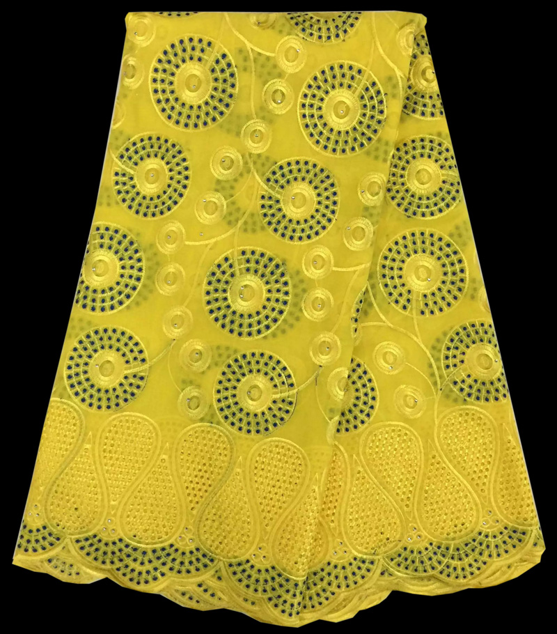 (5yards/pc) yellow African dry cotton lace fabric wholesales Swiss voile lace fabric with embroidery for party dress CLS63(5yards/pc) yellow African dry cotton lace fabric wholesales Swiss voile lace fabric with embroidery for party dress CLS63