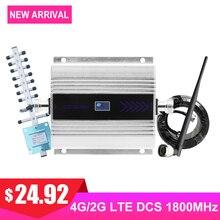 4G DCS LTE 1800 МГц усилитель мобильного сигнала GSM светодиодный дисплей Мобильный телефон усилитель сигнала повторитель Yagi + кнут антенна Коаксиальный комплект #
