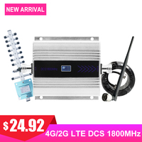 4G DCS LTE 1800MHZ Cellular Signal Booster GSM Mobile Phone Signal Amplifier Repeater LCD Display Yagi+Whip Antenna Coaxial Kit#