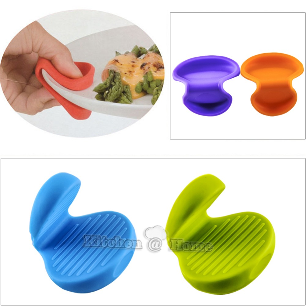 Silicone Pot Holders: Silicone Heat Resistant Oven Mitts Pot Holders Pinch Grips