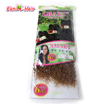 6pcs/pack ombre purple Jerry curly freetress hair ombre brown deep wave synthetic hair extension crochet braiding curl Hair брюки ombre ombre mp002xm1k5cj