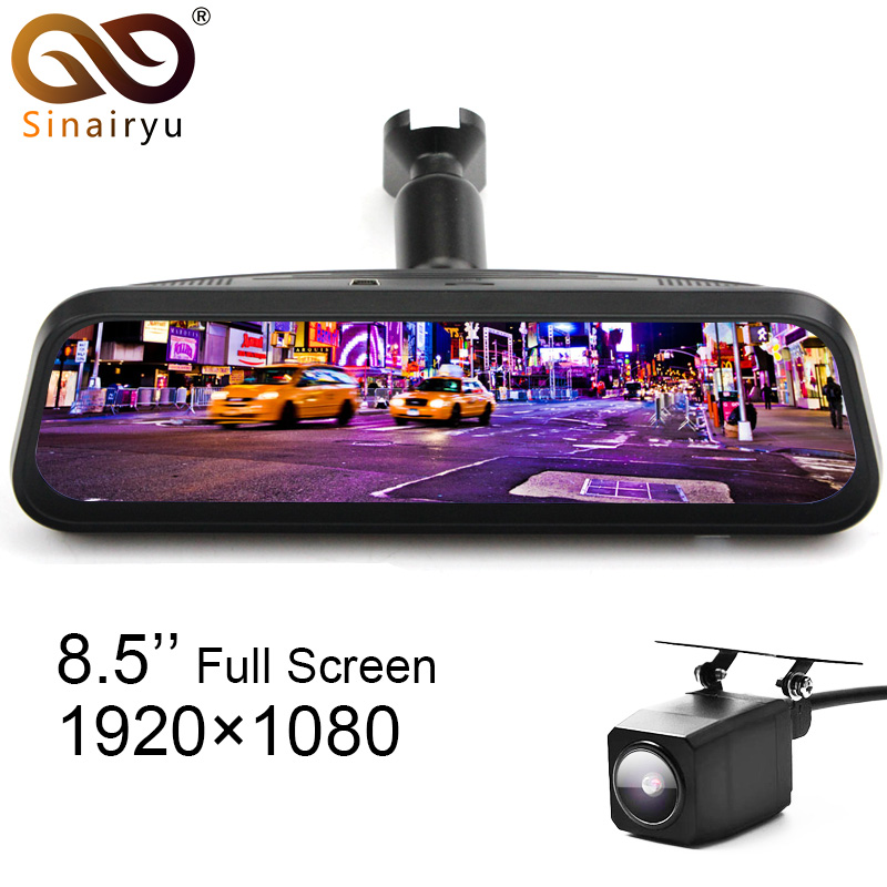 HD 8.5 Inch Full IPS Touch Screen Car Mirror DVR Monitor With MCCD Camera . Support Gesture Operation Novatek NT96663 Chip