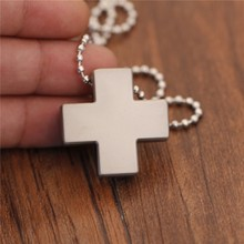 New Stainless Steel Necklace for Men Women Jesus Crystal Cross Pendant Gold Silver Fashion Jewelry Dropshipping
