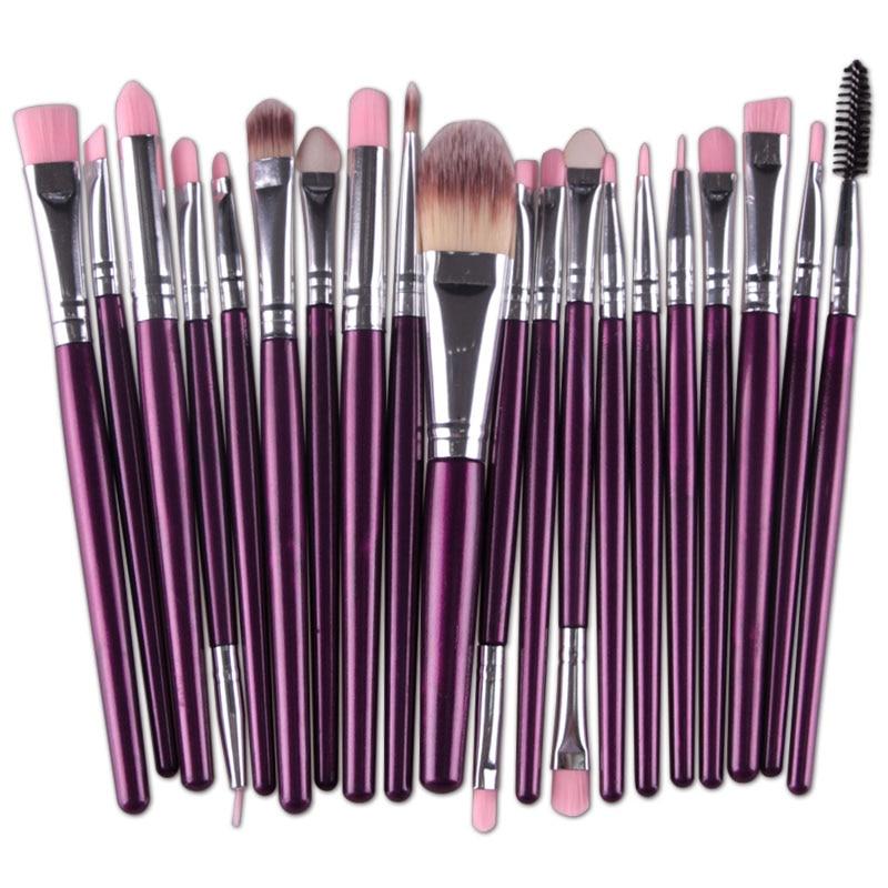 20pcs Eyes Brushes Set Eyeshadow Eyebrow Eyelashes Eyeliner Lip Makeup Brush Sponge Smudge Brush Cosmetic pincel maquiagem (19)