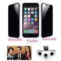 Защита Анти-Шпион Экран Из Закаленного Стекла Протектор Экрана Премиум Защитная Пленка Предохранителя для IPhone 4 4s 5 5S 5C 6 6 s 6 Плюс 6 sPlus