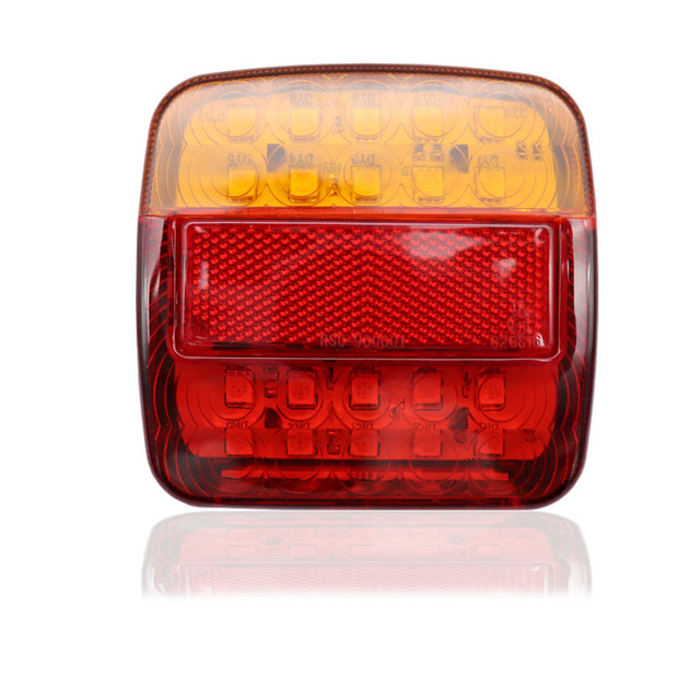 2pcs 12V Trailer Truck Caravan 26LED Taillight Tail Light Turn Signal Indicator Brake Stop Lamp Number Plate Light Rear Reverse 1