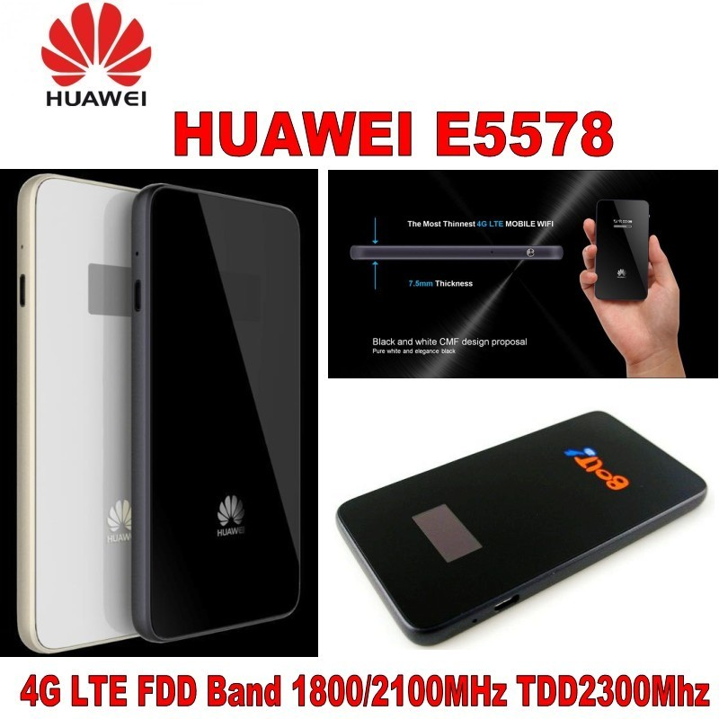 Huawei E5577 White 4G Low-cost Travel Wi-Fi Refurbished Super-Fast Portable Mobile Wi-Fi Hotspot Long-lasting Battery