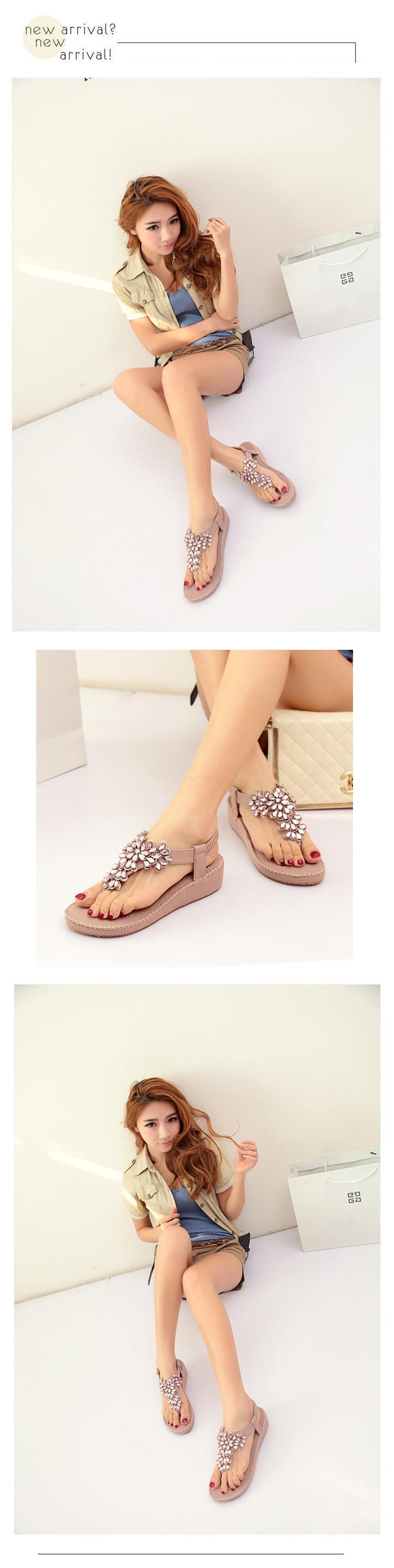 7cb37882bf1 Luxury Rhinestone Flower Flip Flops Wedge Sandals Women 2015 Summer ...