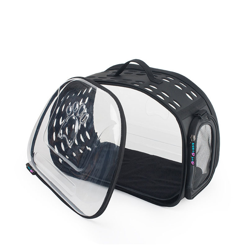KIMHOME PET bolsas de perro portátiles para perros pequeños bolsa de mensajero portátil transparente para mascotas bolsa de transporte para perros medianos gato