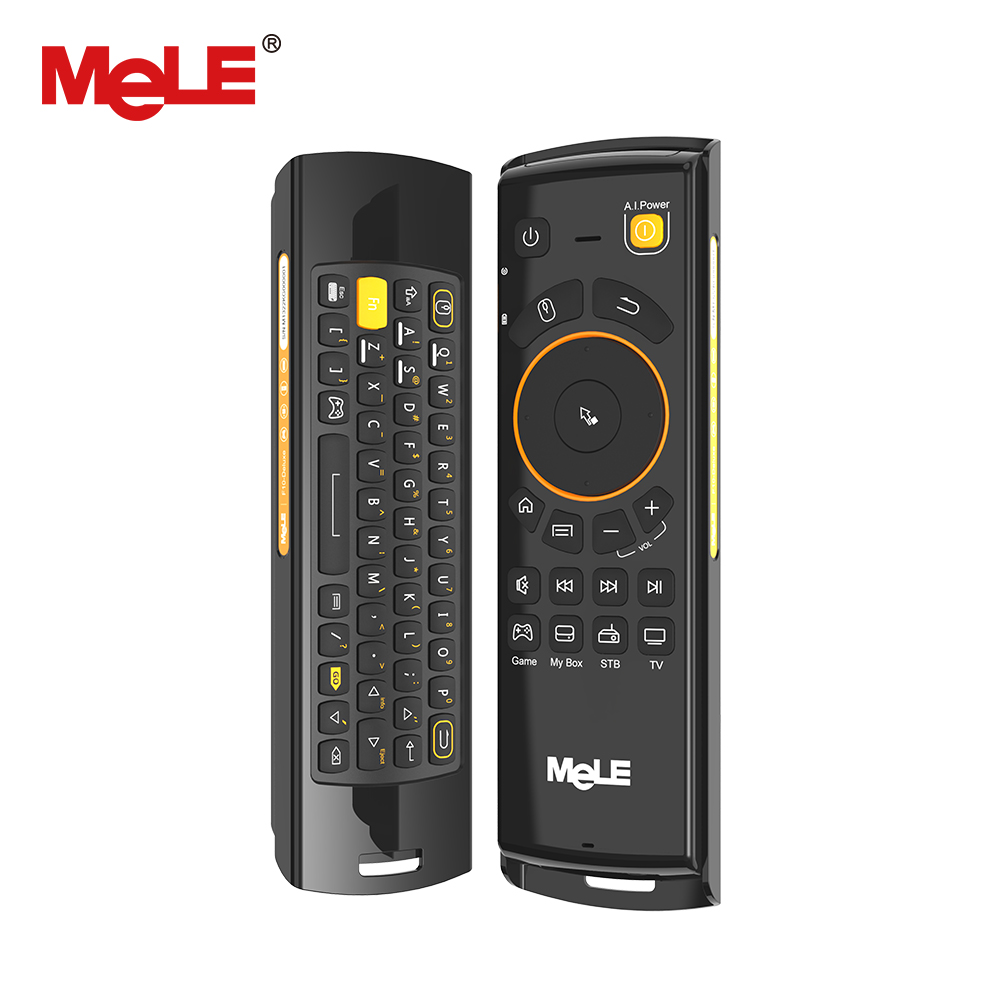 Wireless Keyboard Air Mouse Remote Control MeLE F10 Deluxe 2.4GHz IR Learning Gaming for Android TV Box Windows Mini PC Mac new arrival 2 4ghz wireless fly air mouse mini keyboard remote control with ir learning function for android tv box pc computer