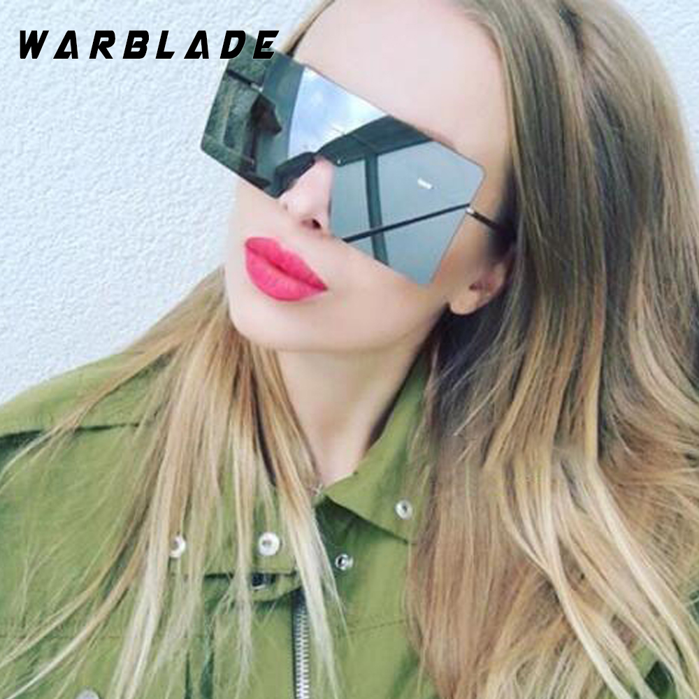 WarBLade böyük bir parça lens gözlük qadınlar kvadrat mavi - Geyim aksesuarları - Fotoqrafiya 3