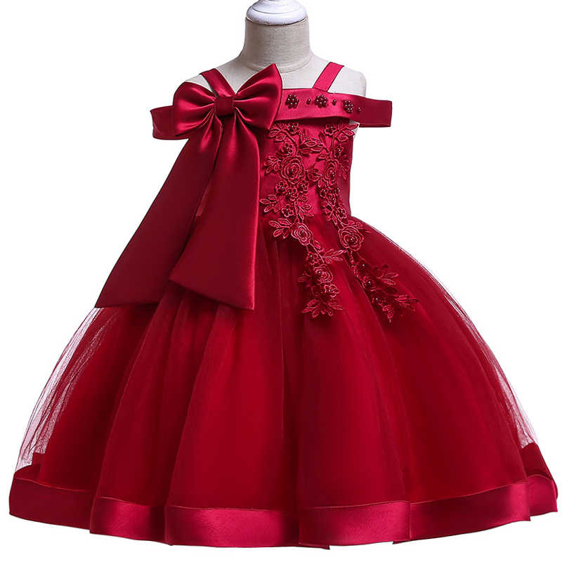 8358d0002 2019 Baby Girls Clothes Kids Dresses For Girls Wedding Flower Lace Party  Princess Dress Summer Easter