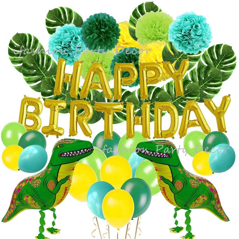 Dropwow Dinosaur Party Supplie Hawaiian Luau Safari Favors Baby Shower Dino Jungle Jurassic Boys Birthday Decorations