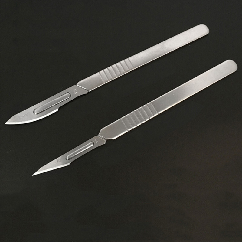 NO10/11/12/15/20/21/22/23/24 Stainless Steel Scalpel Blade +2pcs Handle For Cutting Electronics Repair Tools PCB Circuit Board