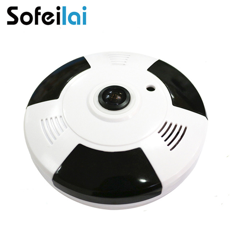 Sofeilai Home Network 960P HD Wifi Camera 360 degree Panoramic Wireless Surveillance IP Camera Mobile Remote Monitor 1.3MP P2P 2017 hot mobile wireless ip camera remote surveillance camera monitoring wifi network wireless camera