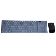Black 1600 DPI 2.4GHz Ultrathin Wireless Desktop Keyboard + Mouse + Keyboard Cover Flim For Desktop Laptop Gaming Gamer