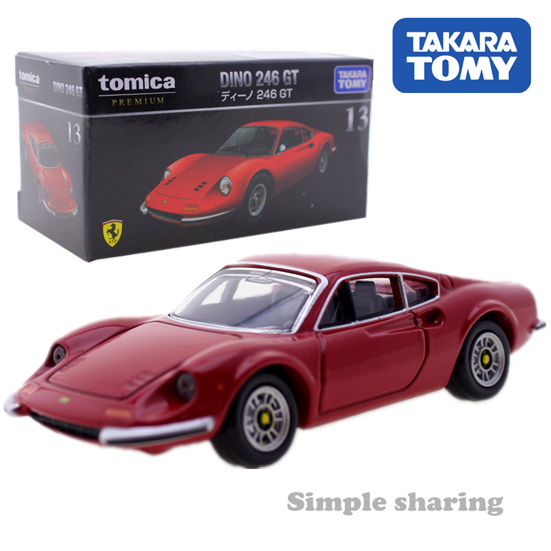 Takara Tomy Tomica Premium 13 DINO 246 GT Bubble Model Kit Diecast Miniature Car Toy Funny Magic Kids Bauble Hotpop Doll