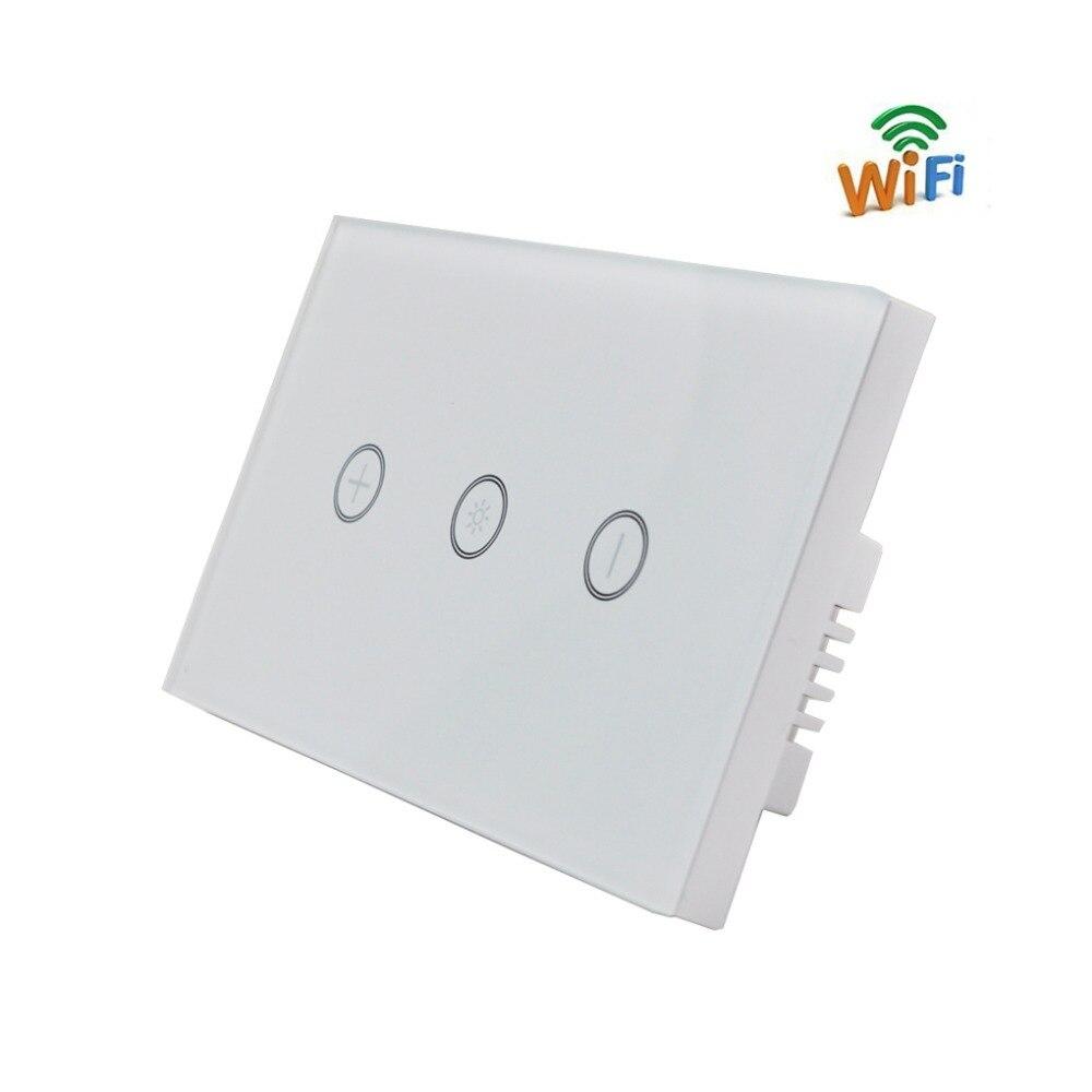 Interrupteur WiFi sans fil panneau en verre minuterie tactile capteur tactile mur télécommande interrupteur lumière Alexa Google accueil Vocie US commutateur