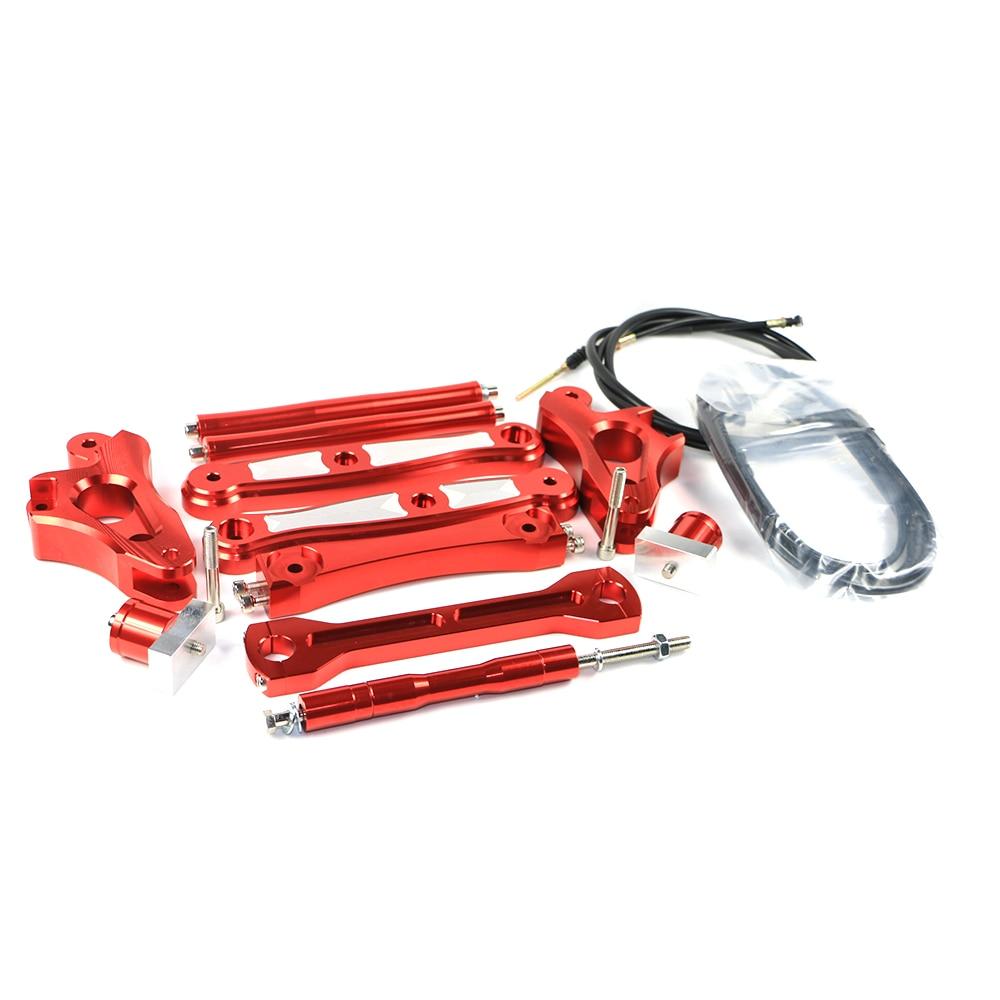 Мотоцикл Скутер ЧПУ алюминиевый сплав 15см удлинить металлический седло мешок Поддержка бар Кронштейны для Ямаха БВС х 125
