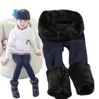 Хлопковые модные однотонные леггинсы для девочек 1–7лет детские танцевальные брюки с закрытой пяткой новые зимние детские теплые штаны