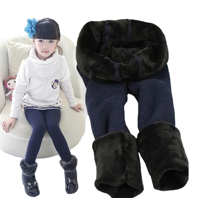 1-7 years Girls cotton fashion Solid color leggings baby children step foot Dance pants winter new kids Keep warm pants