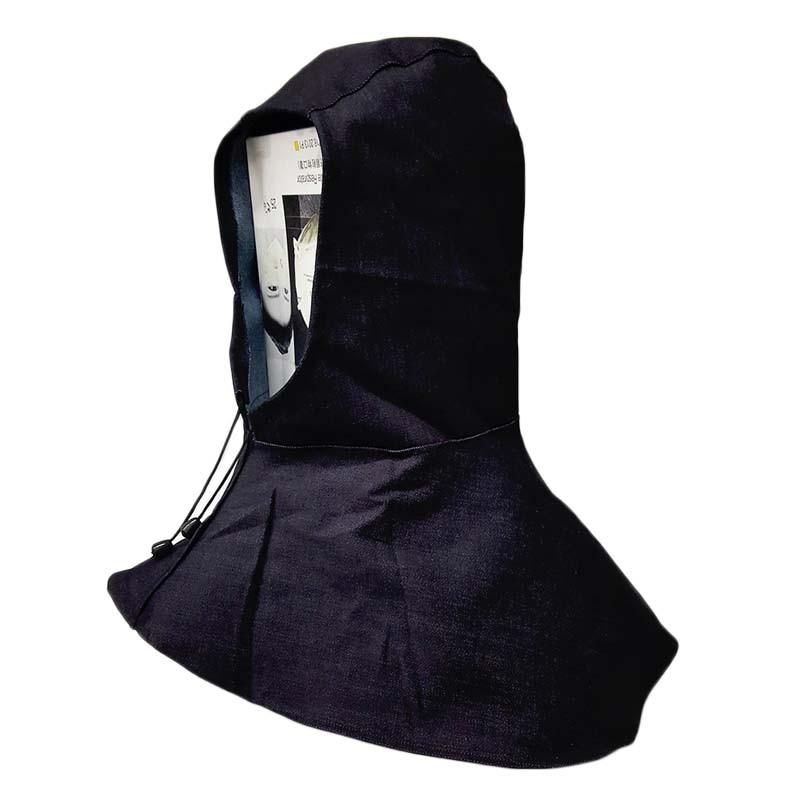 1Pc Blue Denim Fabric Welding Hood Welding Caps Hats Flame Retardant Helmet Hat Welding Neck Protection For Welder Safety Cover