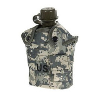Quality Plastic DPM Pouch Water Bottle And Alloy Cup Military Canteen