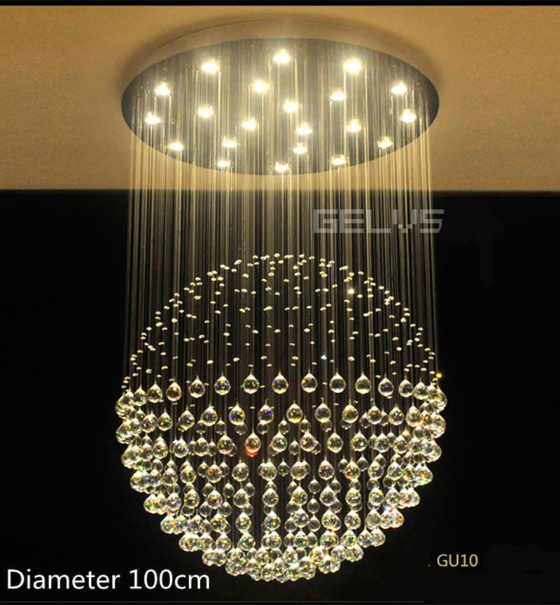 Thuis grote globe crystal verlichting salon gu10 led for Led hanglampen woonkamer