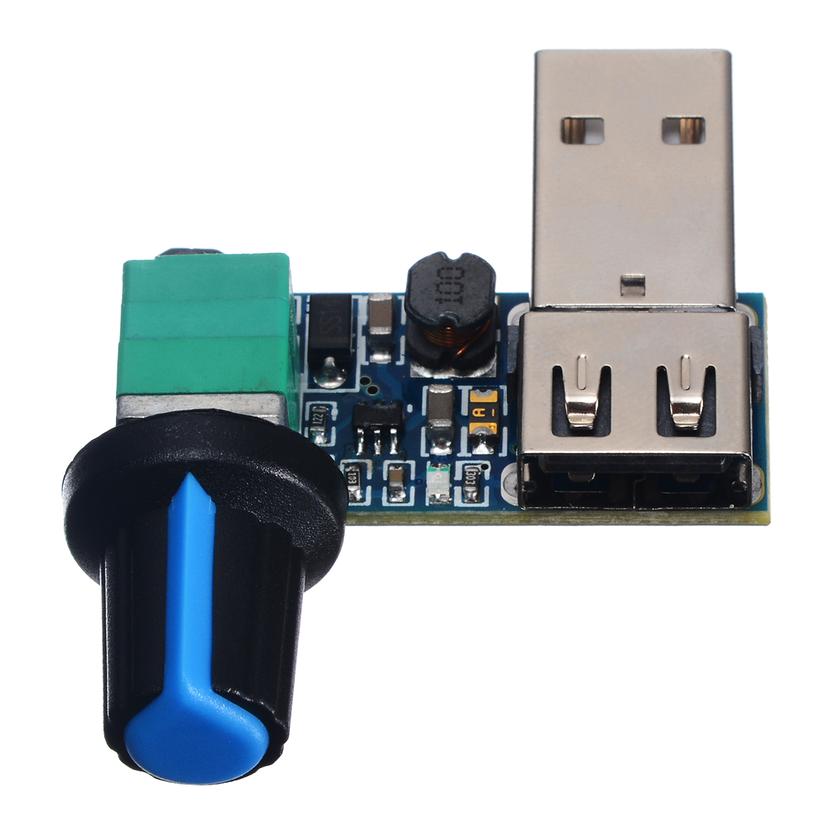 USB Fan Stepless Speed Controller Regulator Speed Variable Switch ON//OFF Module