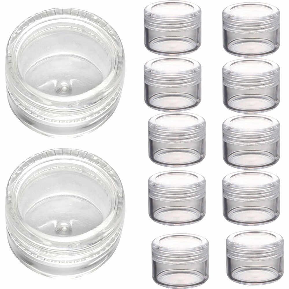 50Pcs Plastik Kosmetik Kosong Wadah Sampel Toples Pot Kecil 3G Drop Kapal 70901