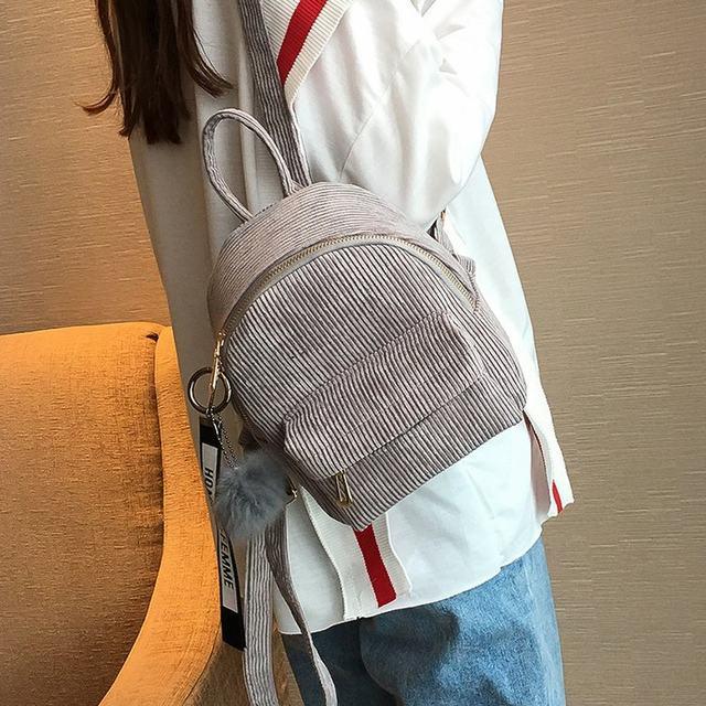 Cute velvet Backpack For Teenagers Children Mini Back Pack Kawaii Girls Kids Small Backpacks female Packbags Fur ball school bag (6)