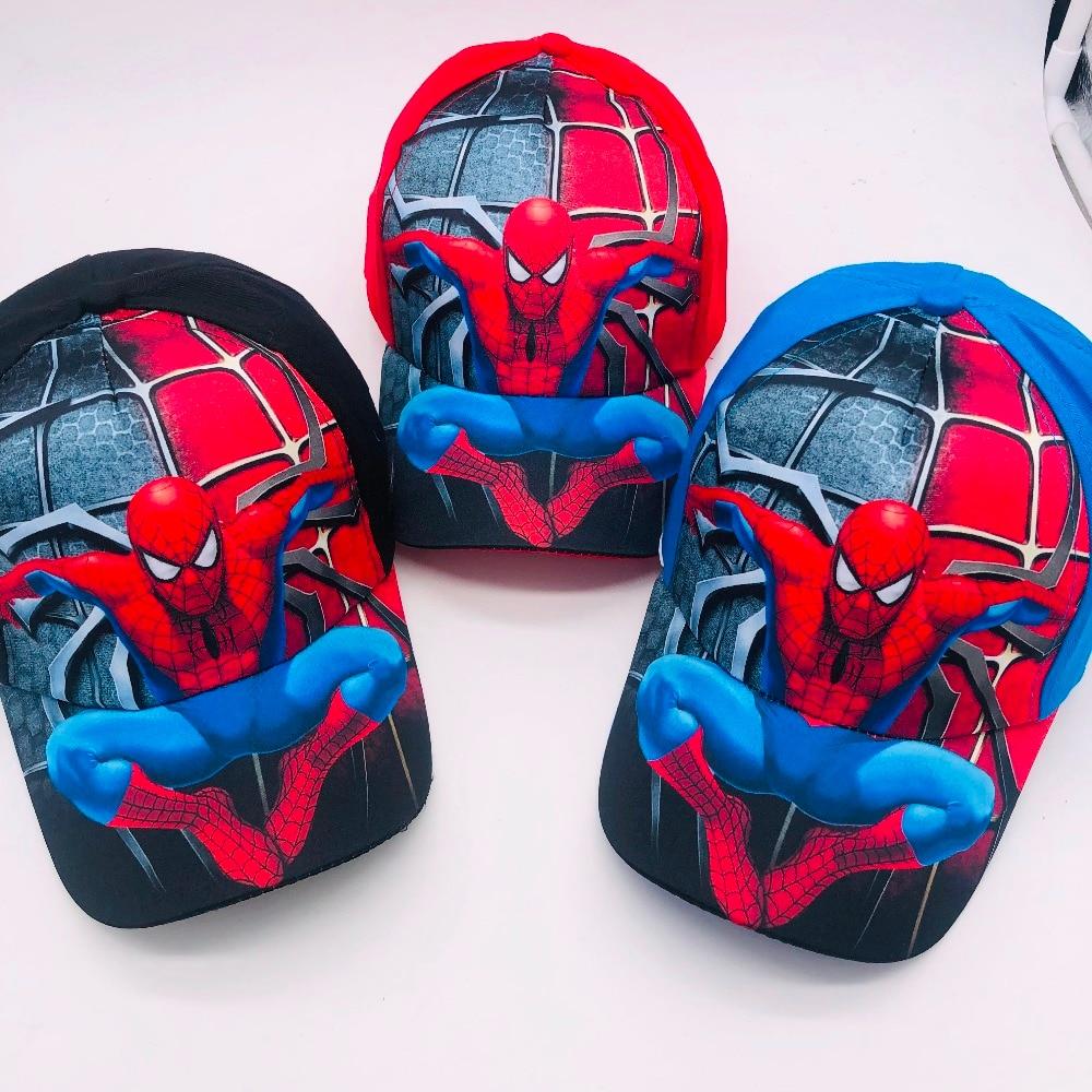 1pcs cartoon boys lovely avengers spider-man Fashion Sun Hat Mario Casual Cosplay Baseball Cap children party gifts