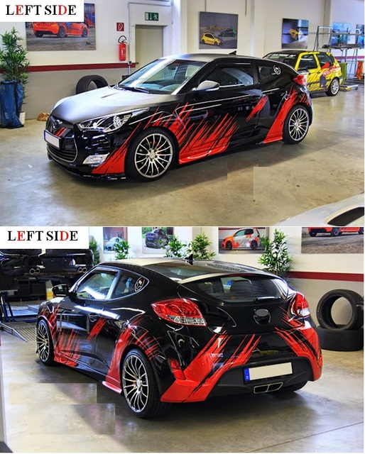 Left side full body car stickers custom racing stickers car styling tailor made car accessories