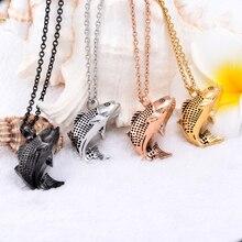 Steel Fish Urn Necklace