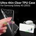 Ultra-fina caso tpu claro transparente tampa do telefone para samsung galaxy a5 a5000 (2015 apenas) protetor da pele de alta qulity