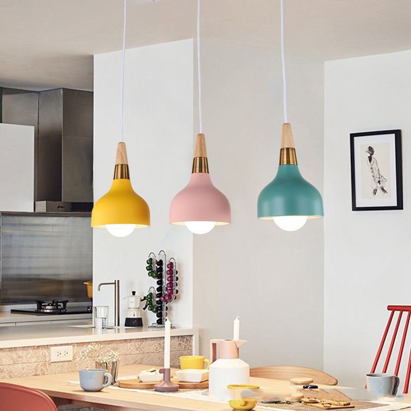 Lampara Colgante Pendant Lights Lustres Abajur Pendant Lamp Luminaire Hanglamp Wood Aluminum Lamp Shade For Home Lighting Dining (16)