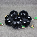10pcs/lot 6CM Anime My Neighbor Totoro Plush Toys BC Briquettes Charcoal Soft Stuffed Pendant Dolls Kids Brithday Gift