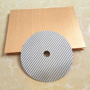 Image 4 - 1PCS פחמן סיבי CD קלטת דיסק מחצלת בסיס כוונון כרית HiFi אודיו פטיפון מכונה אנטי הלם בולם זעזועים רטט קליטה