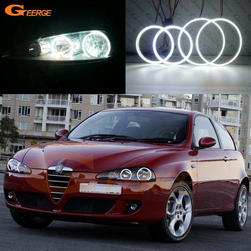 Pro Alfa Romeo 147 2005 2006 2007 2008 2009 2010 Vynikající andělské oči Ultra jasné osvětlení smd vedlo Angel Eyes kit DRL