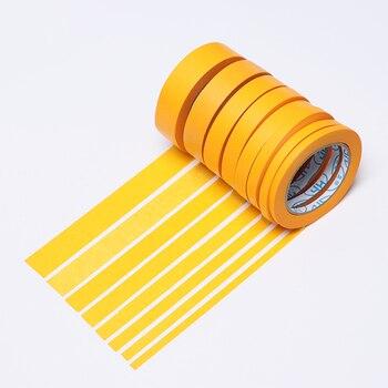 Nueva cinta de enmascarar amarilla de 50M/30M adhesivo para coche DIY pintura papel pintor decoración artesanía accesorios para manualidades de uso General
