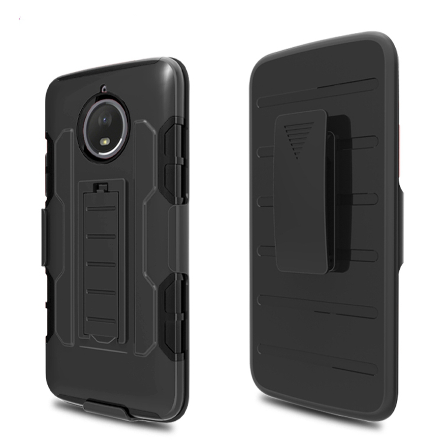 premium 3 in 1 armor case for motorola moto e4 plus stand cover heavy duty hybrid hard rugged. Black Bedroom Furniture Sets. Home Design Ideas