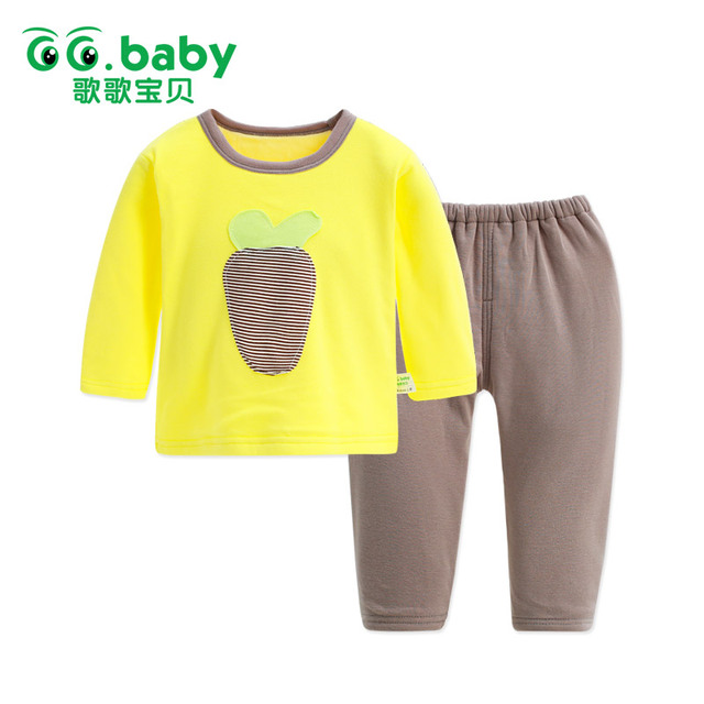Winter Fleece Suits Clothes Girls Set Outfits Children Toddler Boy Clothing Sets Kids Girl Clothes Boys Pajamas Underwear Suit